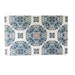 Azulejo Pattern Planked Wood Pattern Art Print - 3