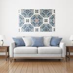 Azulejo Pattern Planked Wood Pattern Art Print - 2