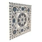 Blue Suzani Planked Wood Pattern Art Print - 4