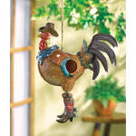 Cowboy Rooster Birdhouse - 1