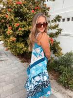 Floral Knit Pointed Hem Dress - 4