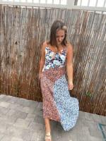 Asymmetrical Printed Maxi Dress - 2