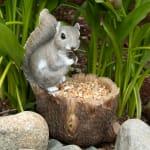 Squirrel Tree Trunk Bird Feeder - 3