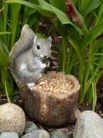 Squirrel Tree Trunk Bird Feeder - 5