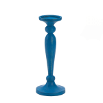 Cadiz Blue Artisan Candleholder - 2