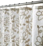 Dainty Home Rita Chenille Embroidered Shower Curtain - 4