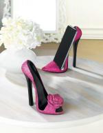 Pink Rose Shoe Phone Holder - 1