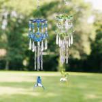 Blue Hummingbird Wind Chimes - 2