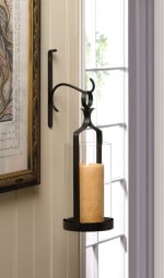 Hanging Hurricane Glass Wall Sconce - 4
