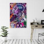 Black is Love Canvas Wall Art - 1