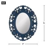 Blue Scallop Wall Mirror - 2