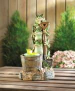 Solar Rotating Frog Garden Decor - 1
