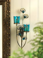 Peacock Plume Wall Sconce - 2