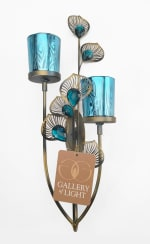 Peacock Plume Wall Sconce - 5