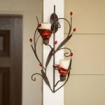 Ruby Blossom Tealight Sconce - 3