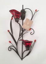 Ruby Blossom Tealight Sconce - 5