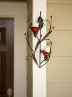 Ruby Blossom Tealight Sconce - 6