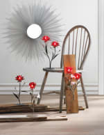 Beautiful Red Flowers Candleholder - 2