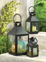 Black Revere Medium Candle Lantern - 1