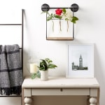 Wall Shelf With Vases - 6