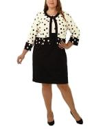 3/4 Sleeve Jacket Over Sleeveless Dress - 4