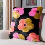 Flower Child Fur Pillow - 2
