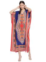 Long Handmade Paisley Kaftan Dress - 1