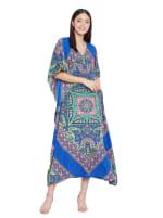 Paisley Handmade Kaftan Dress - 7