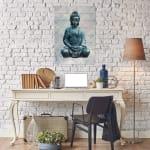 Blue Buddha 18x26 Wood Wall Art - 2