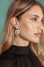 Makena Mixed Material Statement Earrings - 1