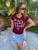 """Be Your Own Kind Of Beautiuful"" Embellished Tee - Petite - 4"