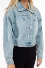 26 International Cropped Oversized Denim Jacket - 3