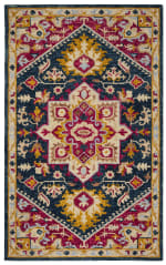 Safavieh Navy Wool Rug - 8
