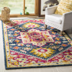 Safavieh Navy Wool Rug - 9