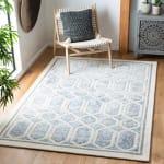 Safavieh Adelina 665 Ivory & Blue Wool Rug - 2