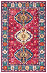 Safavieh Vail Red & Blue Wool Rug - 2