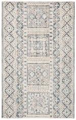 Safavieh Vail White & Blue Wool Rug - 1
