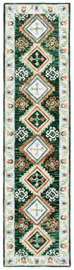"Safavieh Vail  2'-3"" X 9' Green & Ivory Wool Rug - 1"