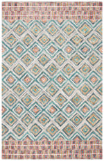 Vail Green & Red Wool Rug - 5