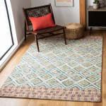 Vail Green & Red Wool Rug - 6