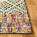 Vail Green & Red Wool Rug - 7