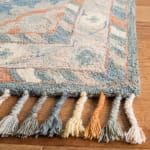 Vail  Blue & Red Wool Rug - 11