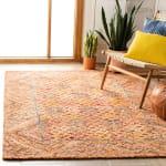 Safavieh Vail Gold & Pink Wool Rug - 6