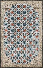 Safavieh Vail  Blue & Brown Wool Rug - 5