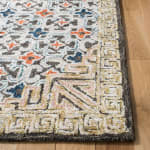 Safavieh Vail  Blue & Brown Wool Rug - 7