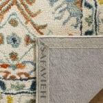 Vail Ivory & Blue Wool Rug - 4