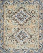 Vail Blue & Brown Wool Rug - 1