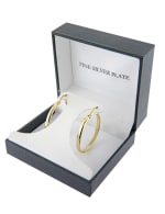 Boxed gold over fine silver plated 32mm clicktop hoops - 3