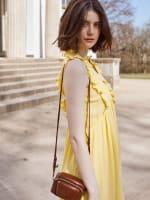 Solid Sleeveless Tiered Ruffle Dress - 3