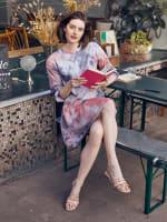 Tie Dye Tiered Sweatshirt Dress - Plus - 1